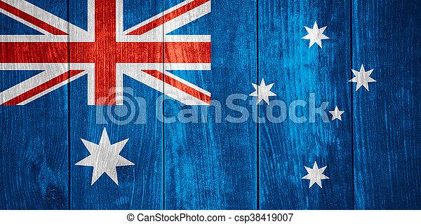 vlag, australië - csp38419007