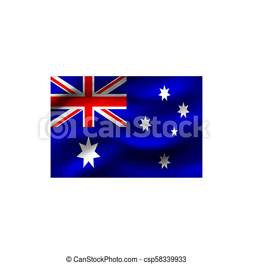 vlag, australia. - csp58339933