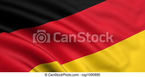 vlag, duitsland - csp1090895