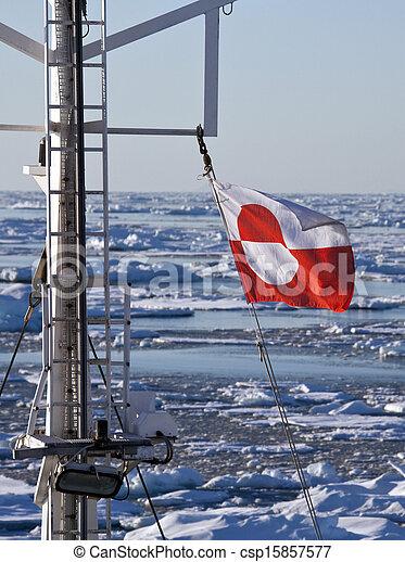 vlag, groenland - csp15857577