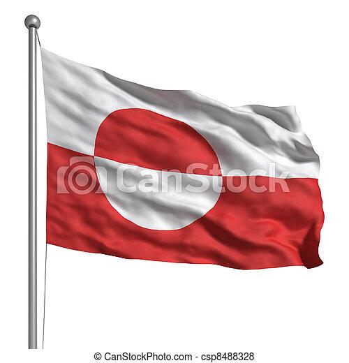 vlag, groenland - csp8488328
