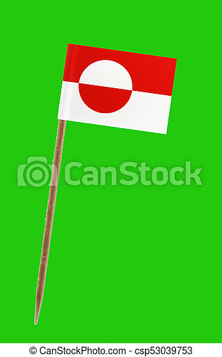 vlag, groenland - csp53039753