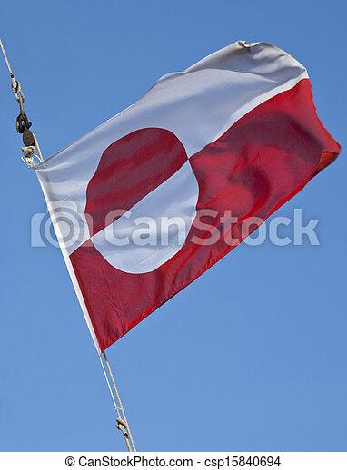 vlag, groenland - csp15840694