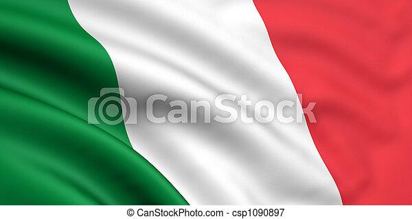 vlag, italië - csp1090897