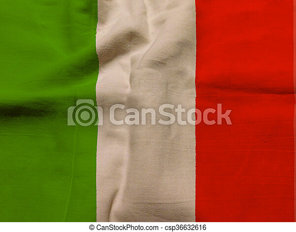 vlag, italië - csp36632616