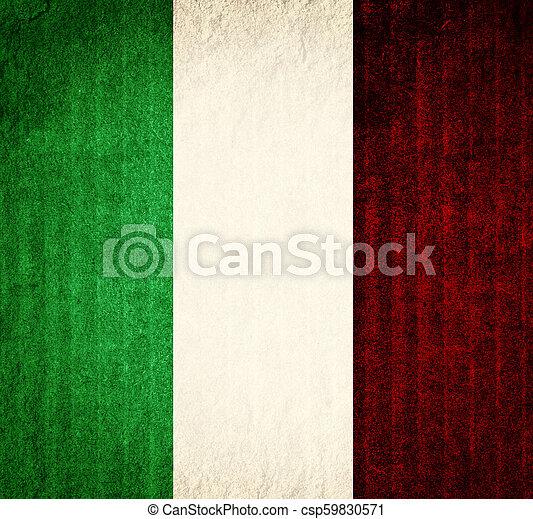 vlag, italië - csp59830571