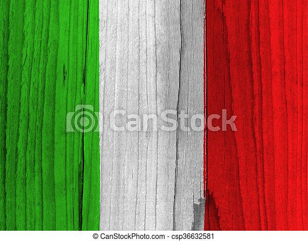 vlag, italië - csp36632581