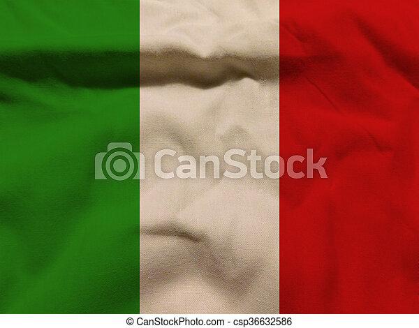 vlag, italië - csp36632586