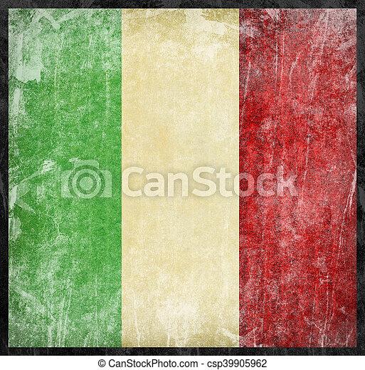 vlag, italië - csp39905962