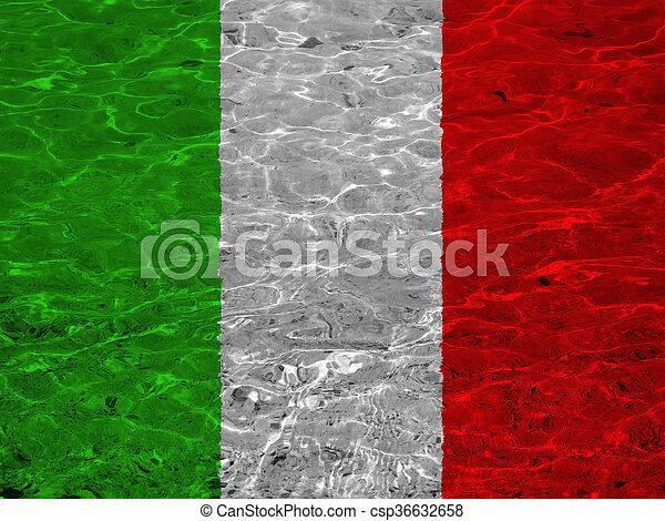 vlag, italië - csp36632658