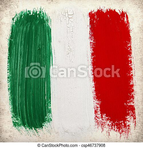 vlag, italië - csp46737908