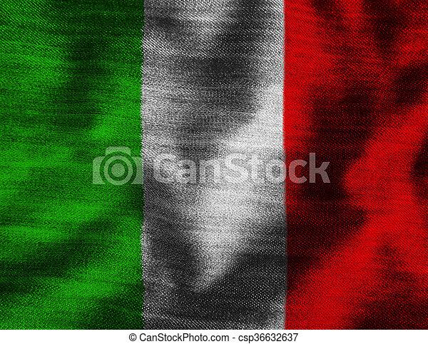 vlag, italië - csp36632637