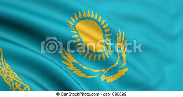 vlag, kazachstan - csp1090899