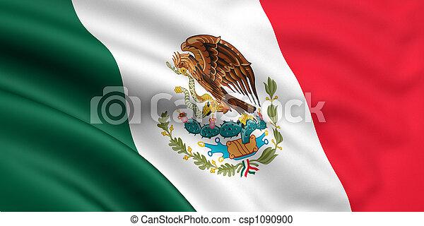 vlag, mexico - csp1090900