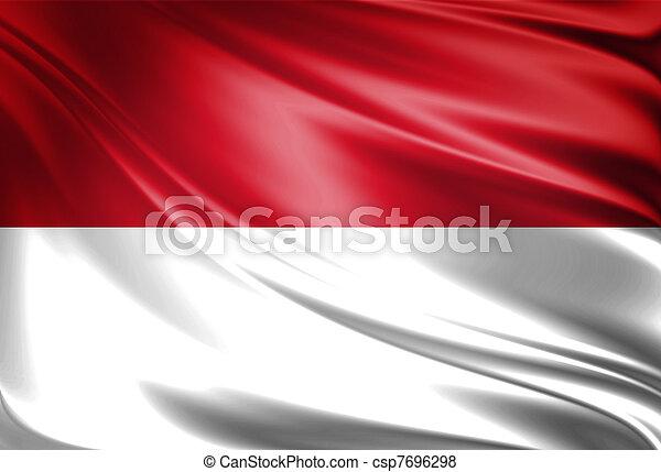 vlag, monaco - csp7696298
