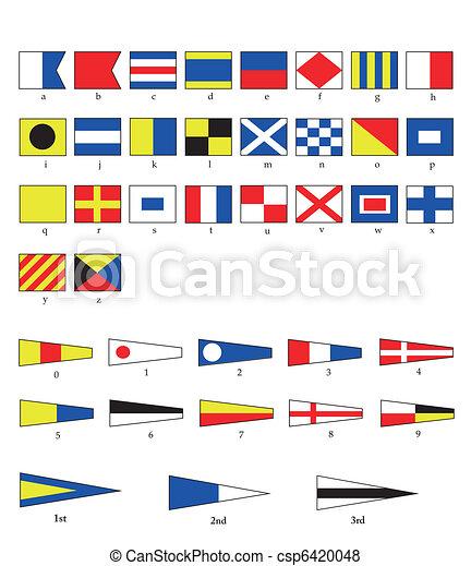 vlaggen, nautisch - csp6420048