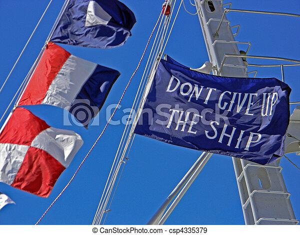 vlaggen, nautisch - csp4335379