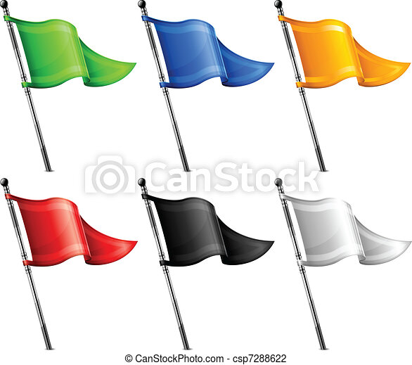 vlaggen, set, driehoek - csp7288622