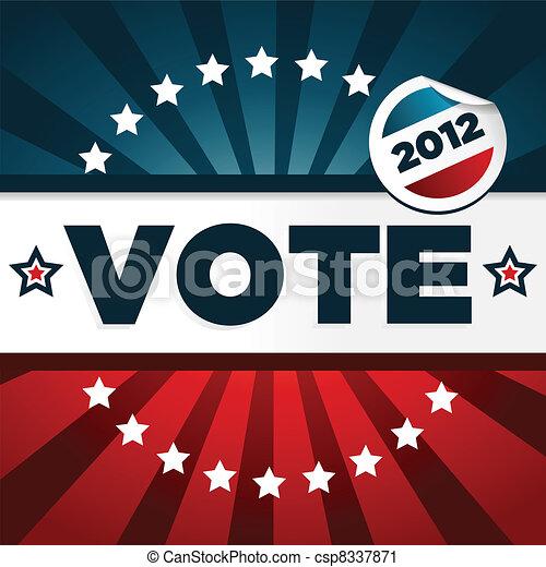 vlastenecký, plakát, hlasování - csp8337871