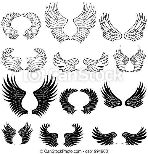 vleugels, engel - csp1994968