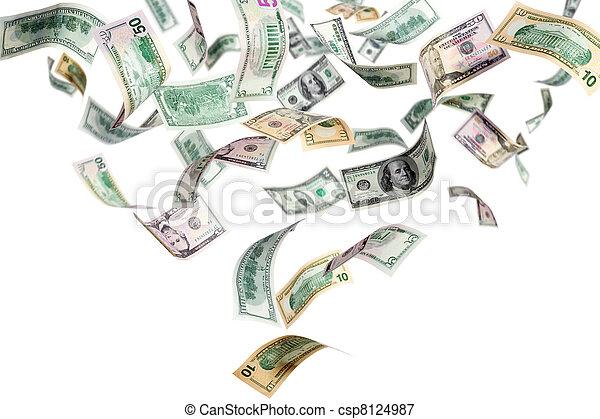 vliegen, dollars - csp8124987