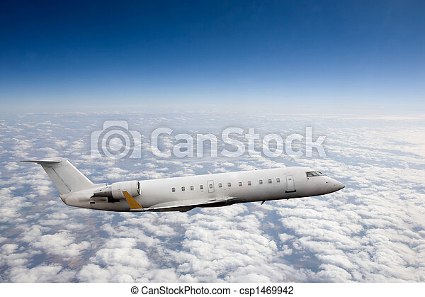 vliegtuig, hemel - csp1469942