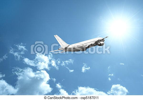 vliegtuig, vasten - csp5187011