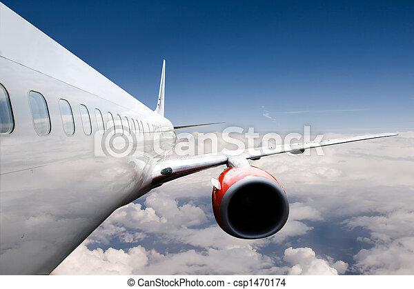 vliegtuig, vlucht - csp1470174