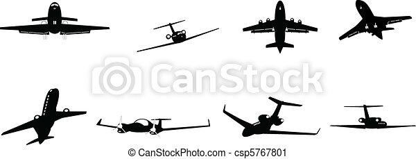 vliegtuig, zakelijk - csp5767801