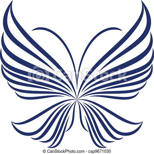 vlinder, abstract - csp9671030