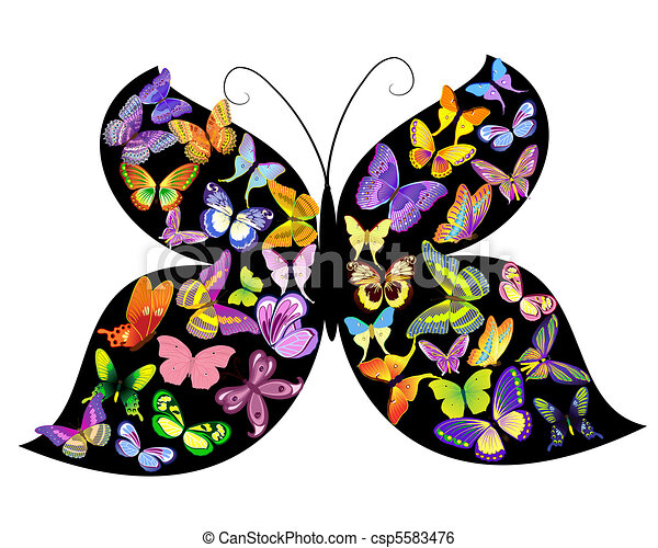 vlinder, vlinder - csp5583476
