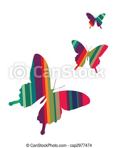 vlinder, witte achtergrond - csp2977474