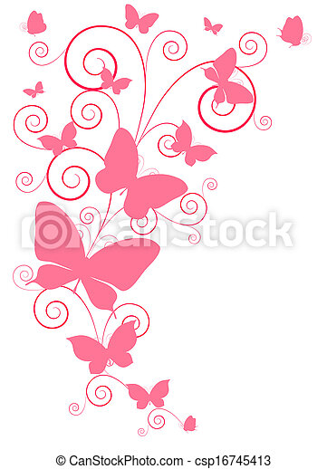 Schmetterlingsdesign - csp16745413