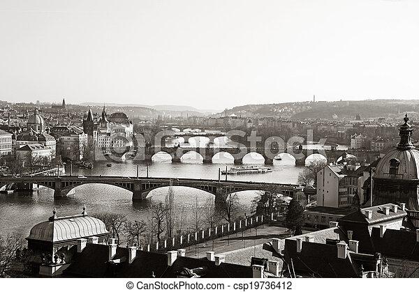 Vltava Bridges Prague - csp19736412