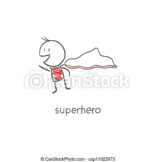 voando, superhero - csp11022973