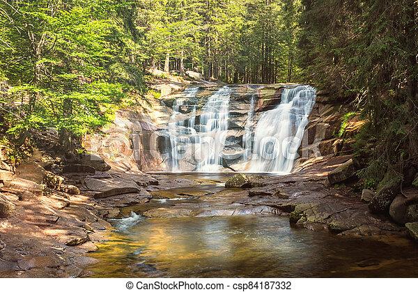 vodopád, republika, národnostní, krkonose, sad, čech, mumlava - csp84187332