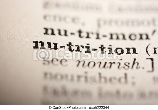 voeding, woord - csp5222344