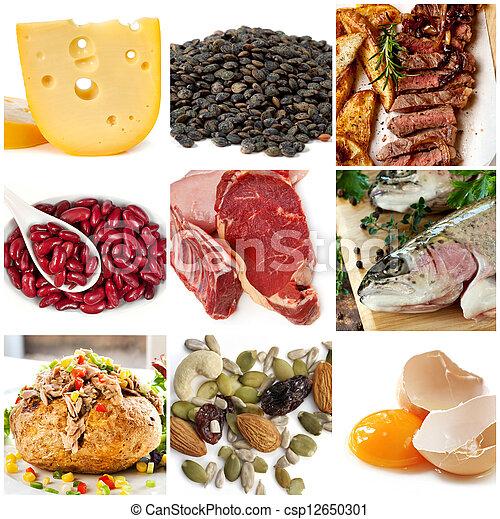 voedingsmiddelen, bronnen, proteïne - csp12650301