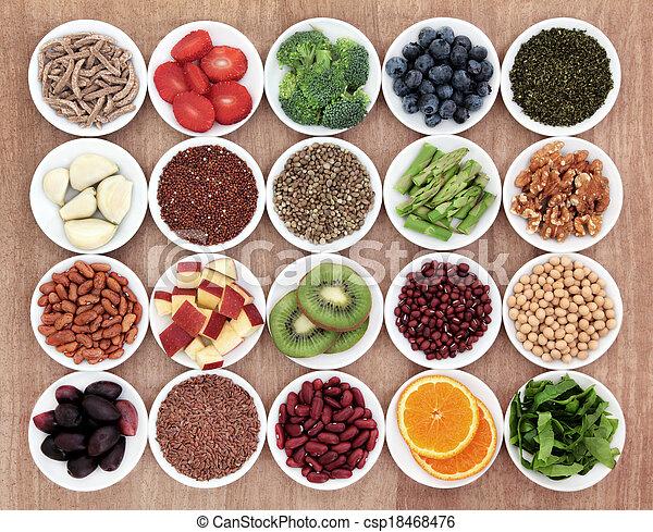 voedingsmiddelen, gezondheid - csp18468476