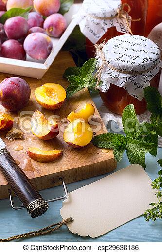 voedingsmiddelen, kunst, recepten - csp29638186