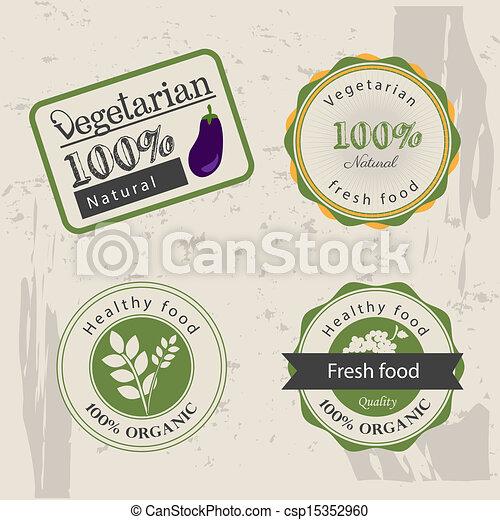 voedingsmiddelen, vegetariër - csp15352960