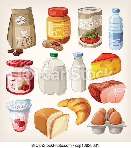 voedingsmiddelen, verzameling - csp13820631