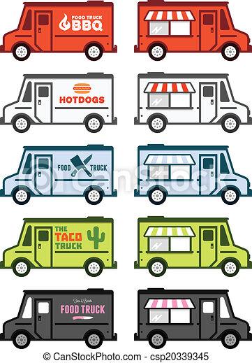 voedingsmiddelen, vrachtwagen, grafiek - csp20339345