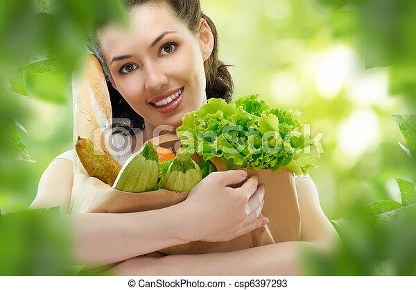 voedingsmiddelen, zak - csp6397293