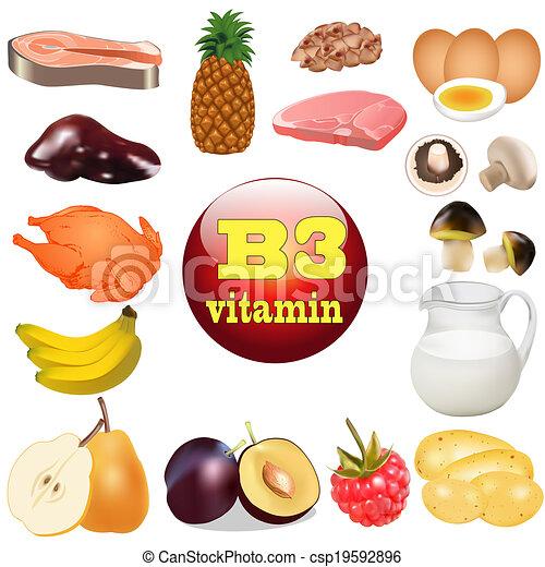 voedsel, vitamine, oorsprong, drie, b., plant - csp19592896