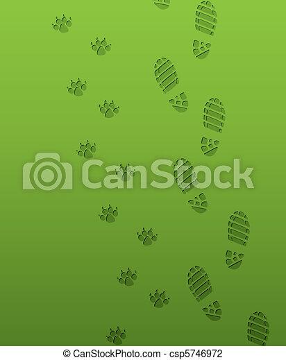 voet drukt af - csp5746972