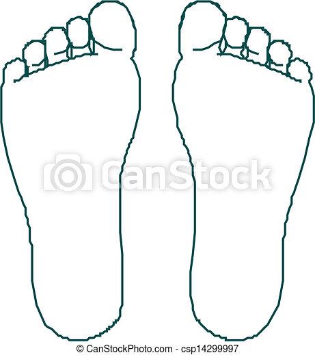 voet drukt af - csp14299997