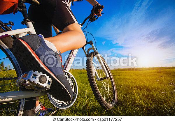 voet pedaal, fiets - csp21177257