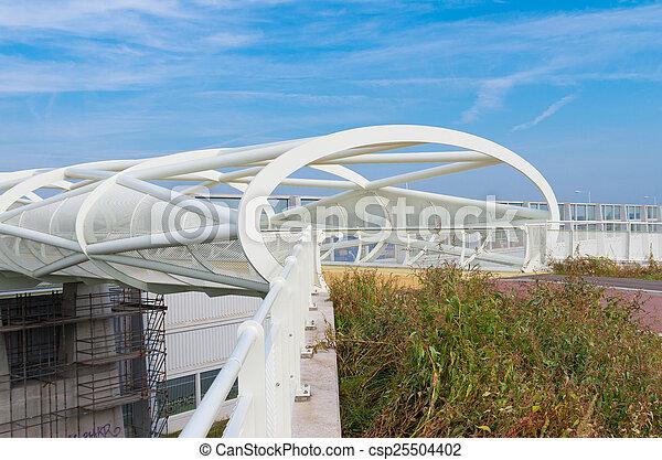 voetbrug, moderne, fiets - csp25504402