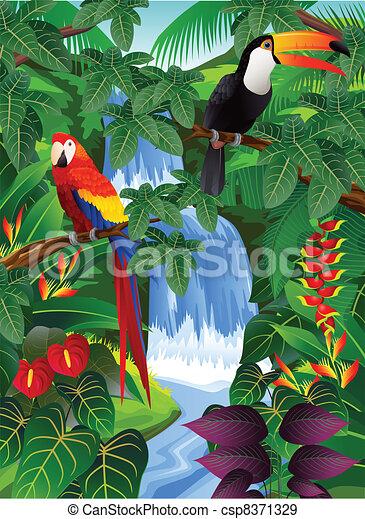 vogel, tropische  - csp8371329